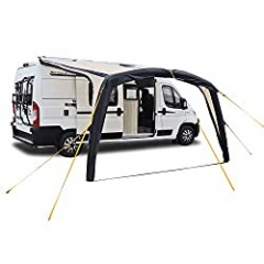 deiwo Air Awning for Caravan or Motorhome, 250-400 x 250 cm, 2000 mm Hydrostatic Head, Height 235-250 cm, Sand/Anthracite (300)