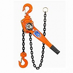 Nisorpa Chain Block Hoist 0.75 T (750 Kg) Capacity Manual Hand Engine Lever Ratchet Hoist Winch for Pulling Lifting 6M Lifting Height Heavy Duty Alloy Steel