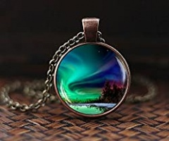Northern Lights Pendant, Northern Light Jewelry, Light Necklace, Aurora Borealis Necklace, Aurora Necklace
