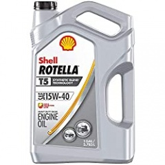 Shell Rotella T5 Synthetic Blend 15W-40 Diesel Engine Oil (1 Gallon, Case of 3)
