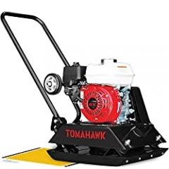 TOMAHAWK 5.5 HP Honda Vibratory Plate Compactor Tamper for Dirt, Asphalt, Gravel, Soil Compaction with GX160 Engine