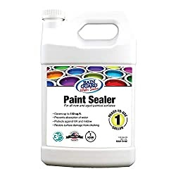 Rain Guard Water Sealers SP-9004 Paint Sealer Ready to Use - Water Repellent for Painted Wood, Brick, Concrete, Stucco, and Masonry - Covers up to 150 Sq. Ft, 1 Gallon, Clear