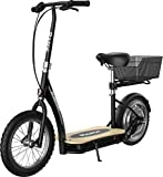 Razor EcoSmart Metro Electric Scooter – Padded Seat, Wide Bamboo Deck, 16