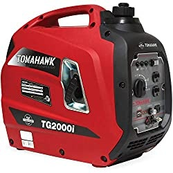 Tomahawk 2000 Watt Inverter Generator Super Quiet Portable Power for Residential Home Use 120V and USB Outlet Panel